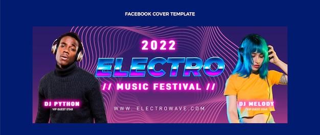 Płaska konstrukcja minimalna okładka festiwalu muzycznego na facebooku