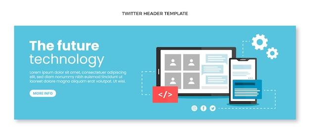 Płaska konstrukcja minimalna technologia nagłówka twittera