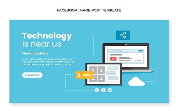 Płaska konstrukcja minimalna technologia post na facebooku