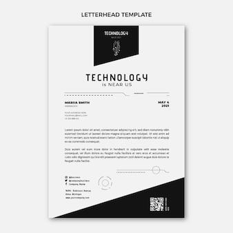 Płaska konstrukcja minimalna technologia szablon papieru firmowego