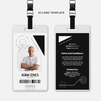 Płaska konstrukcja minimalna technologia szablonu karty identyfikacyjnej