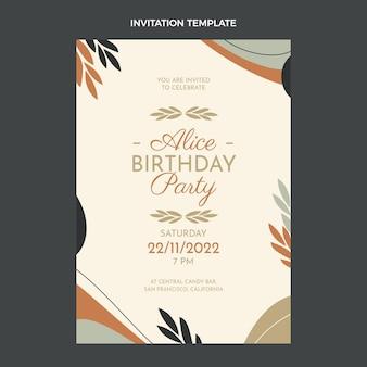 Płaska konstrukcja minimalne zaproszenie na urodziny