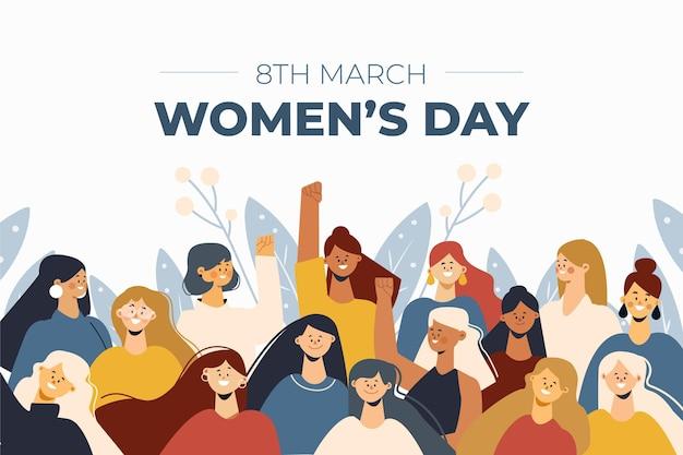 Płaska konstrukcja na dzień kobiet