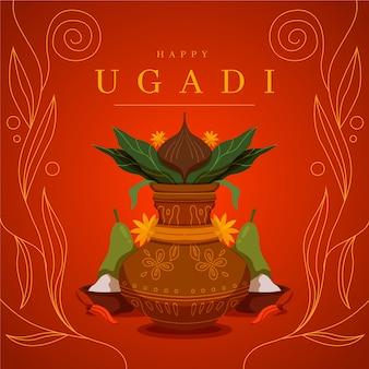 Płaska konstrukcja na festiwal ugadi