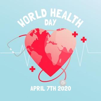 Płaska konstrukcja na światowy dzień zdrowia
