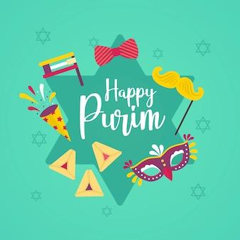 Płaska konstrukcja na szczęśliwy dzień purim