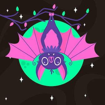 Płaska konstrukcja nietoperza halloween