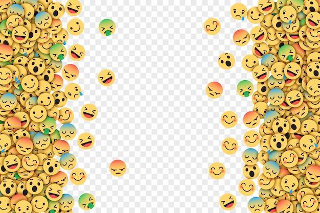 Płaska konstrukcja nowoczesne emotikony na facebooku
