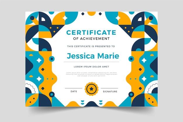 Płaska konstrukcja nowoczesny certyfikat