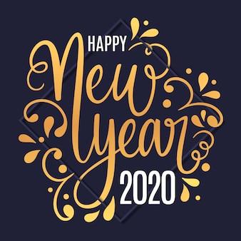 Płaska konstrukcja nowy rok 2020 tło