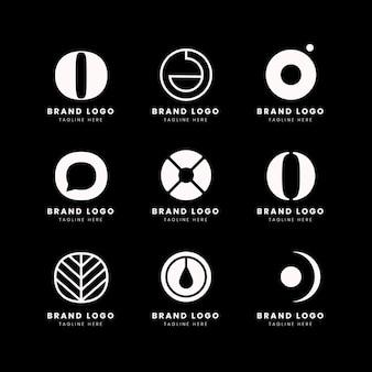 Płaska konstrukcja o pakiet szablonów logo