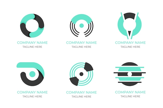 Płaska konstrukcja o zestaw szablonów logo