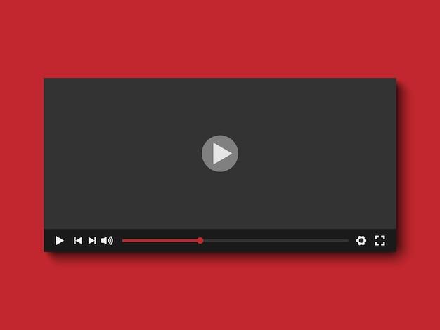 Płaska konstrukcja odtwarzacza wideo, ilustracji wektorowych