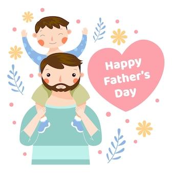Płaska konstrukcja ojca i syna