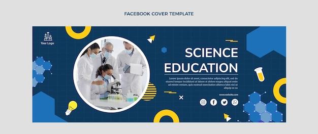 Płaska konstrukcja okładki na facebooku o edukacji naukowej