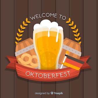 Płaska konstrukcja oktoberfest tło