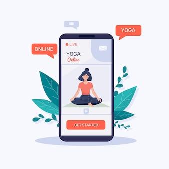 Płaska konstrukcja online koncepcja jogi