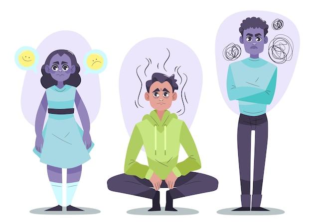 Płaska konstrukcja osób z problemami ze zdrowiem psychicznym