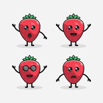 Płaska konstrukcja owoców truskawek