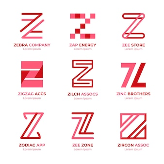 Płaska konstrukcja paczka szablonów logo z list