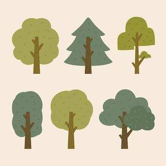 Płaska konstrukcja pakietu drzew