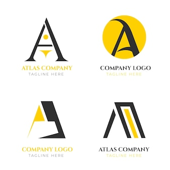 Płaska konstrukcja pakietu logo