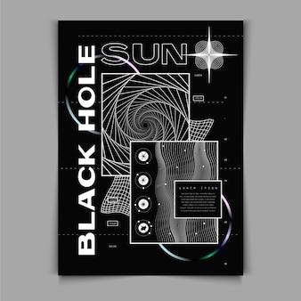 Płaska konstrukcja plakatu y2k