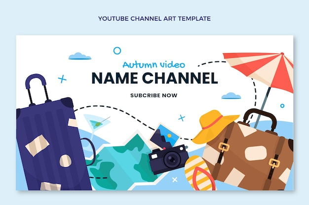 Płaska konstrukcja podróżnicza na kanale youtube