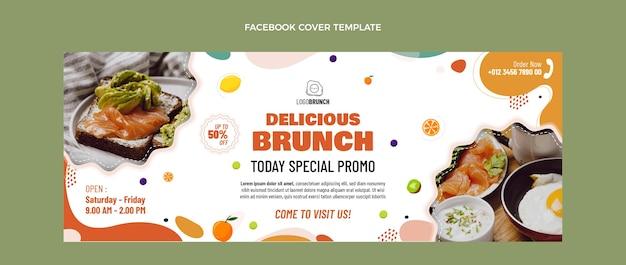 Płaska konstrukcja pyszny brunch facebook cover