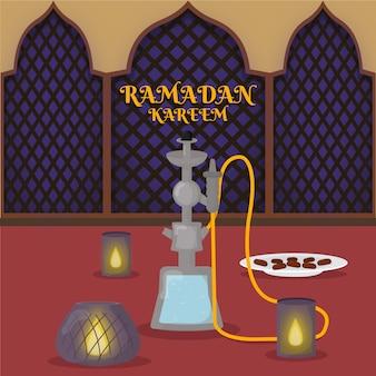 Płaska konstrukcja ramadan ilustracja