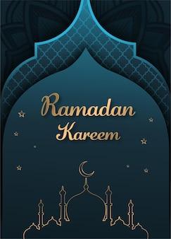 Płaska konstrukcja ramadan kareem ilustracja tło