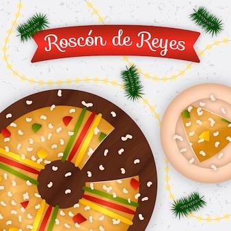 Płaska konstrukcja roscon de reyes