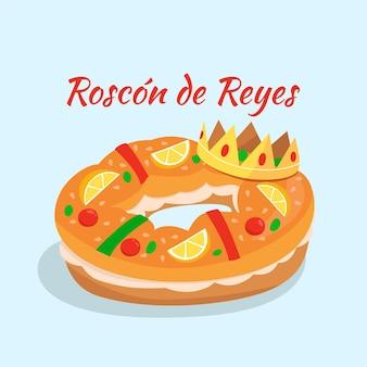 Płaska konstrukcja roscón de reyes