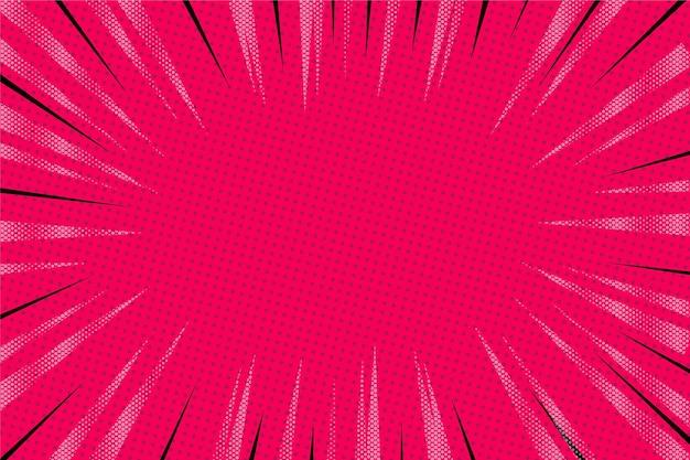 Płaska konstrukcja różowe tło komiksów