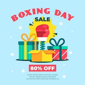 Płaska konstrukcja sprzedaży dnia boksu