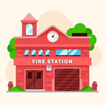 Płaska konstrukcja straży pożarnej ilustracja
