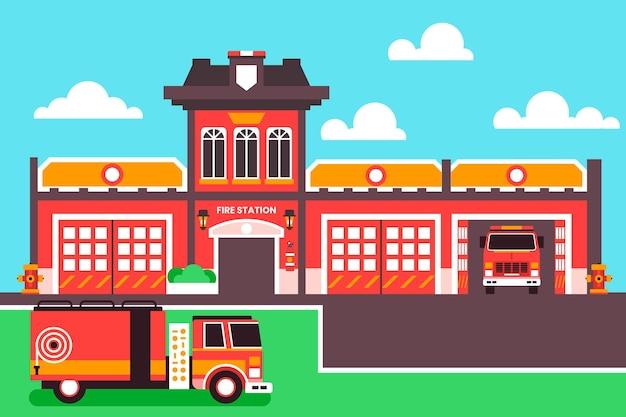 Płaska konstrukcja straży pożarnej