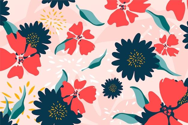 Płaska konstrukcja streszczenie tło kwiatowy