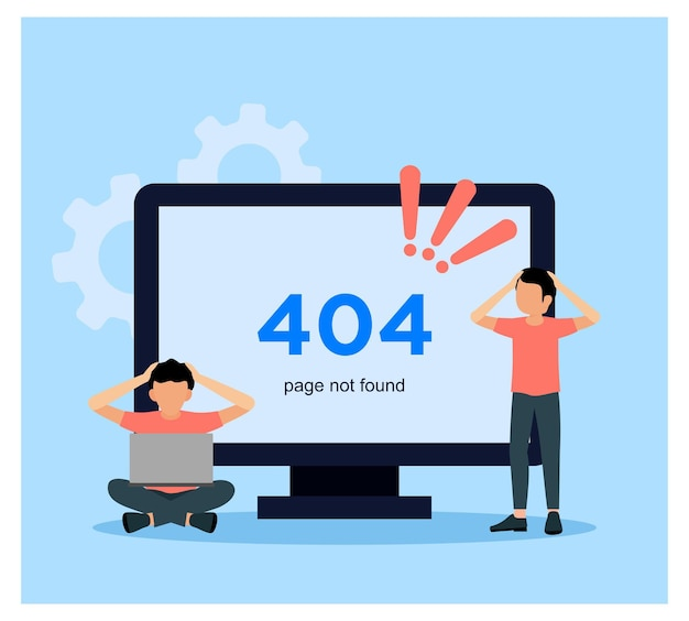 Płaska konstrukcja strony błędu 404