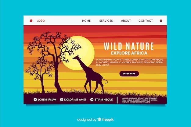 Płaska konstrukcja strony docelowej przyrody