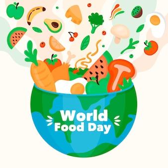 Płaska konstrukcja stylu światowego dnia żywności