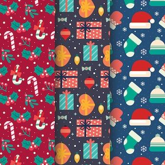Płaska konstrukcja świąteczna kolekcja wzór