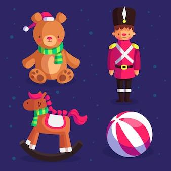 Płaska konstrukcja świątecznych kolekcji zabawek