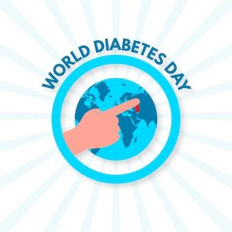 Płaska konstrukcja światowego dnia cukrzycy