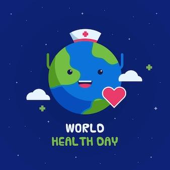 Płaska konstrukcja światowego dnia heathy