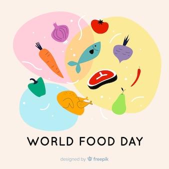 Płaska konstrukcja światowego dnia jedzenia