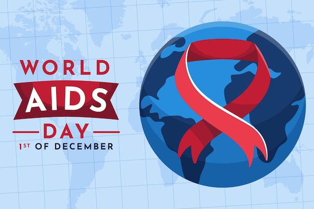 Płaska konstrukcja światowego dnia pomocy
