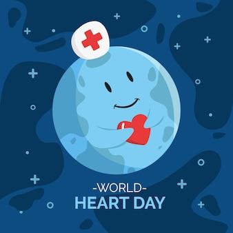 Płaska konstrukcja światowego dnia serca