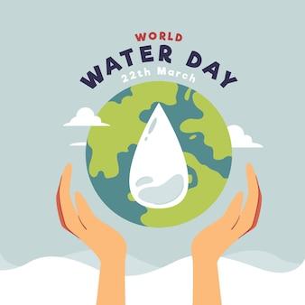 Płaska konstrukcja światowego dnia wody
