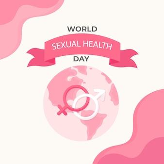 Płaska konstrukcja światowego dnia zdrowia seksualnego